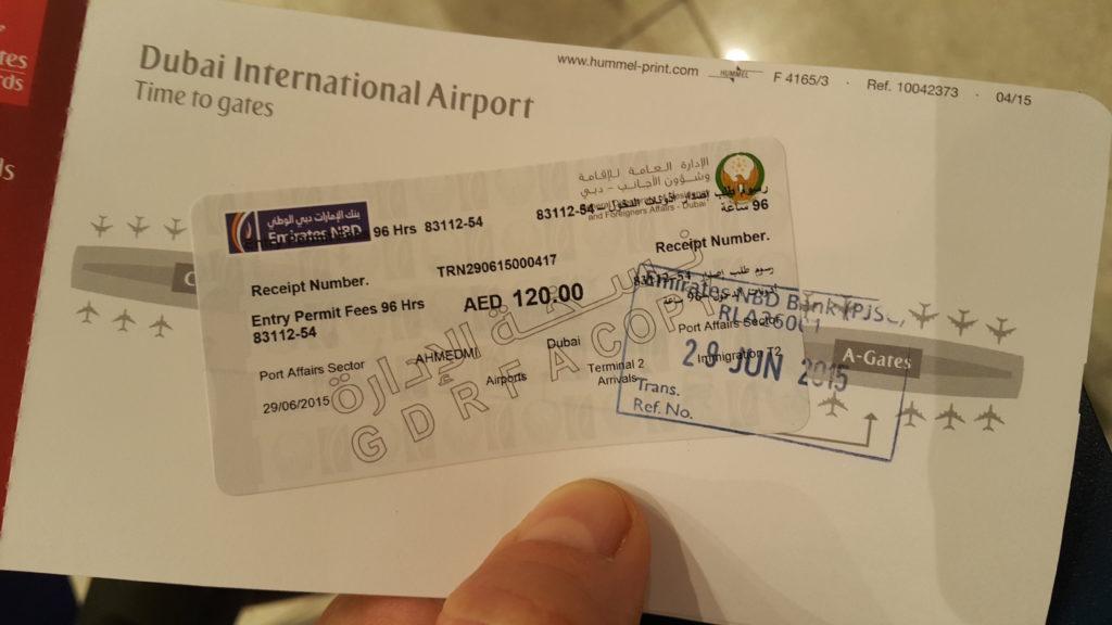 carte d'embarquement  pour  séjourner à Dubai avec un meilleur tarif